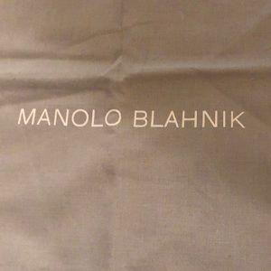 Manolio Blahnik dust covers pull string